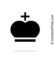 Crown Pope icon on white background Vector illustration