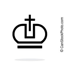 Crown Pope icon on white background. Vector illustration.