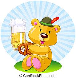 Oktoberfest bear - Oktoberfest illustration of a bear...