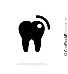 Tooth with caries icon. - Tooth with caries icon on white...