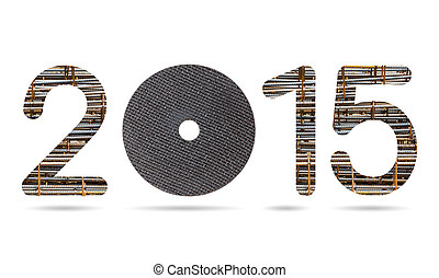 2015 numeric from rusty rebar and metal cutting wheel - 2015...