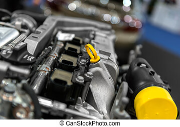 Detail photo of a car engine - Detail photo of a clean car...