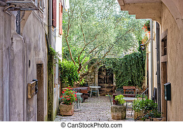 Istrian courtyard - Typical istrian courtyard architecture:...