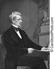 William Henry Seward (1801-1872) on engraving from 1873....