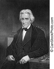 Andrew Jackson 1767-1845 on engraving from 1873 7th...