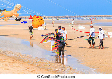 CHA AM BEACH - MARCH 9: 15th Thailand International Kite...