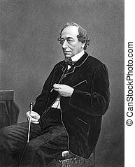 Benjamin Disraeli, 1st Earl of Beaconsfield (1804-1881) on...