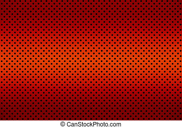Gradient Red color Perforated metal sheet - Close up...