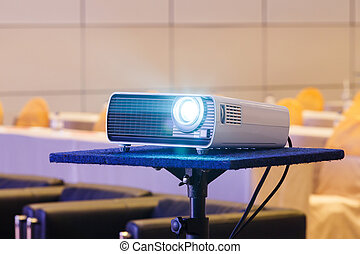 Projector in conference room - Close up projector in...