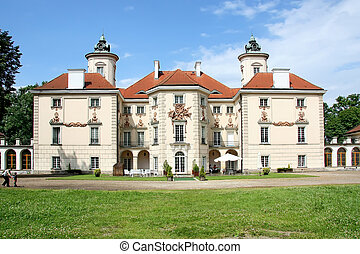 Baroque palace in europe. Famous Dutch architect Tylman van...