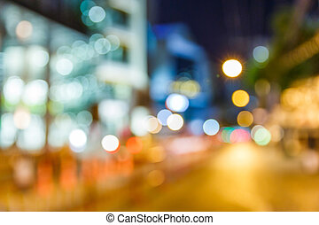 Abstract blurred light and building in shopping street