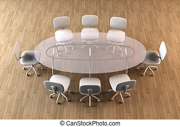 Board room - 3D rendered Boardroom.