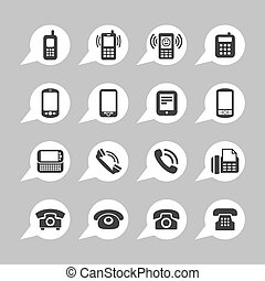 Telephone icons - Telephone mobile smartphone icon set