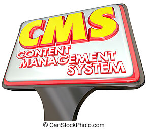 CMS Content Management System Advertising Sign Website...