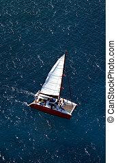 Aerial view Catamaran