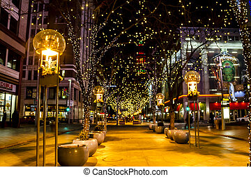Holiday Lights in Denver Colorado USA - DENVER COLORADO USA...