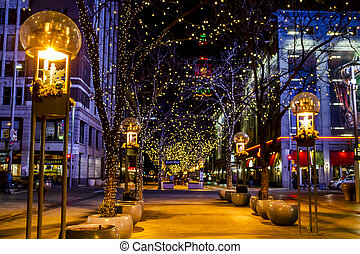 Holiday Lights in Denver Colorado USA - DENVER COLORADO /...
