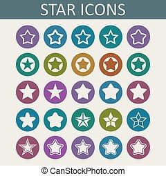 Star icons - Star prize celebrate reward web icon set