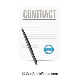 contract concept illustration design