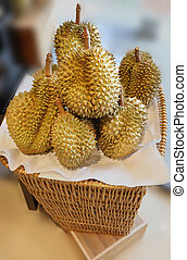 large durians - photo of delicious exotic fruit durians