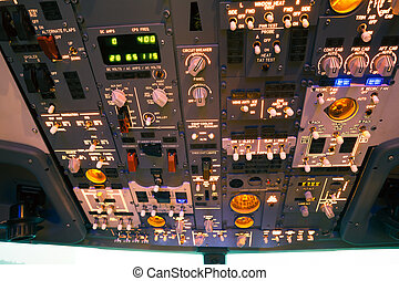 dashboard of an aircraft