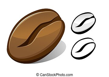 coffee bean - Vector illustration of coffee bean in full...