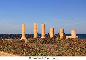 Herods, promontório, Palácio, em, Caesare,