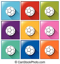 Buttons with balls