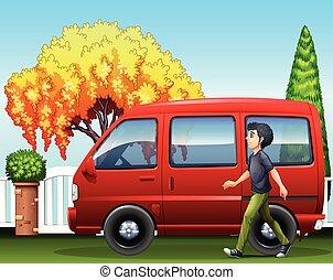 A small van