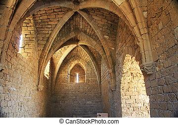 Crusaders Entrance in Caesarea Mari - Inside the crusaders...