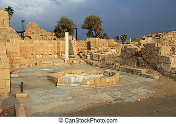 Governors Bathhouse Caesarea Mariti - Ruins of the Governors...