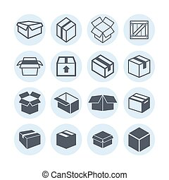 Box icons - Box web delivery market icon set