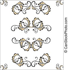 Set of vintage pattern for design (