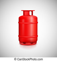 Propane gas balloon Red gas tank, gas container