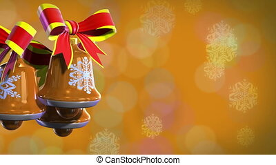 Christmas bells rotate - Render of backgrounds Christmas...