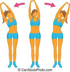 Fitness exercise Girl doing a slope