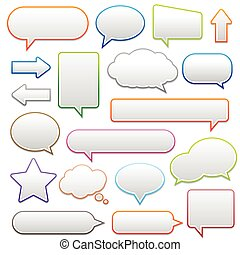pop-up bubble with shadow on white background many styles in...