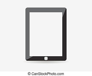High quality vector illustration of modern technology device - computer tablet with blank white screen. vector realistic illustration. eps10