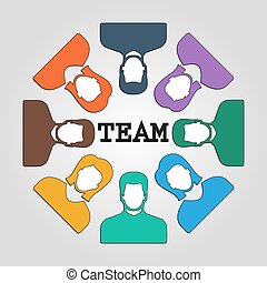 Abstract people team background design Vector illustration...