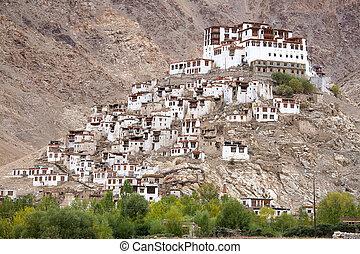 Chemdey gompa, Buddhist monastery in Ladakh, Jammu &...