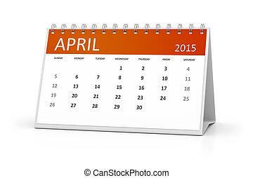 テーブル, カレンダー