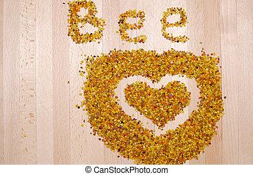 abeille, pollen,