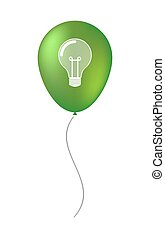 Balloon icon with a light bulb