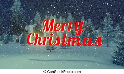 Animated Merry Christmas text - Animated red Merry Christmas...