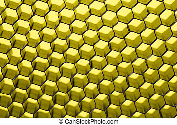 Honeycomb concept as a background in closeup