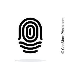 Fingerprint whorl type icon on white background Vector...