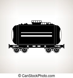 Silhouette tank car on a light background, vector...
