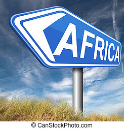 africa sign - Africa continent tourism vacation and travel...