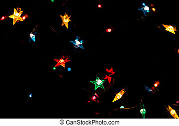Christmas magical lights - Christmas holiday garland with...