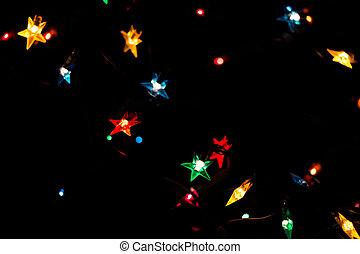 Christmas magical lights - Christmas holiday garland with...